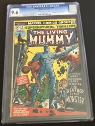 Supernatural Thrillers 5 9.6 Nm+ Ow/wh 1st Living Mummy 1973 Old Label