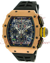 Richard Mille RM011-03 Automatic Flyback Chronograph Skeleton Dial Rose GoldTI