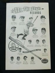 Original 1940and039s Louisville Slugger 11x17 Bandw Advertising Poster W/ Ruth Gehrig