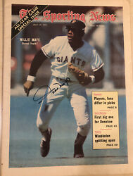 The Sporting News 1971-willie Mays-hof Signed -42nd All Star Game Sf Giants