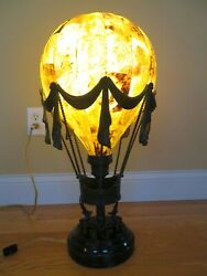 Maitland-smith Lamp Hot Air Balloon Antique Bronze 19th Century French