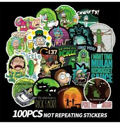 100pcs Rick and Morty themed vinyl Stickers Cute Character Stickers USA SHIPPING $8.99