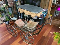 Antique Victorian Baby Carriage 1880. Buggy Carriage.