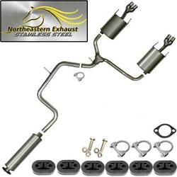 Stainless Steel Exhaust System Kit With Hangers And Bolts Fits 2003-08 Grandprix