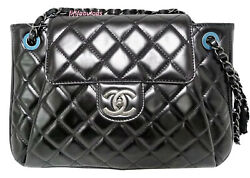 Chanel Jumbo Black Leather Classic Flap Bag New