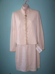 St. John By Marie Gray Evening Knit Skirt And Jacket Suit Size 4 Nwt
