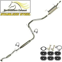 Stainless Steel Exhaust Kit With Hangers And Bolts Fit 1998-2003 Ford Escort Zx2