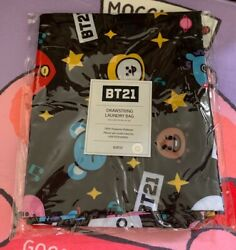 Bts Bt21 Draw String Laundry Bag 21x32 Inch Official New With Tag