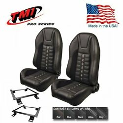 Tmi Pro Series Sport Xr Highback Bucket Seats And Brackets For 1966-72 Chevelle
