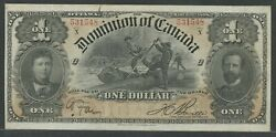 Canada Dc-13c 1 1898 Xf+ Gem Note With Large Margins And Great Color Wln447