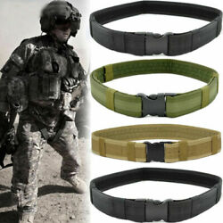 Police Security Tactical Combat Gear Multifunction Military Utility Nylon Belts $10.99