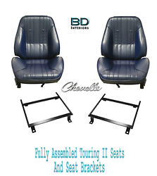 1969 Chevelle 4dr Wagon Touring Ii Front Bucket Seats Rear Seat Cover And Brackets