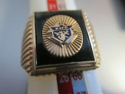 knights Of Columbus Men's Ring,size 11,  10 K-new - Cheap