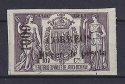 Spanish Guinea 1909, Rare Stamp, Not Listed In Michel Signed, Mlh
