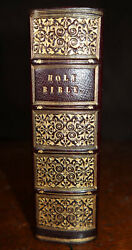 1833 The Holy Bible Old New Testament Cambridge John Smith Fine Binding Small