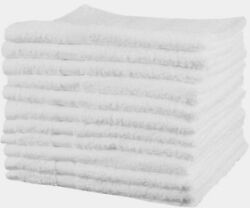 12 New White 100 Cotton Hotel Home Bath Towel 24x50 Very Absorbent