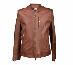Brunello Cucinelli Menand039s Brown Leather Jacket Us Xs/s/m/l/xl/2xl New