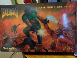 Doom Video Game 15 Piece Pewter Miniatures Figurines Set Bethesda By Reaper