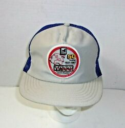 Tisco Tractor Implement Farm Vintage Patch Snapback Mesh Hat Cap U.s.a. Made