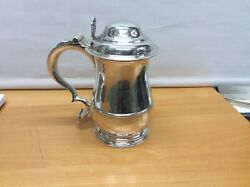 Mid 18th Century Antique George Iii Sterling Silver Tankard And Cover London 1769