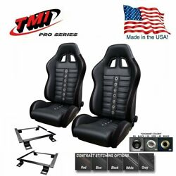 Tmi Pro Series Chicane Sport Xr Racing Seats And Brackets For 2015-18 Mustang