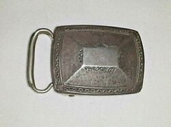 KNOTHE  STERLING SILVER ART DECO BELT BUCKLE   ETCHED DESIGN AWESOME ENGRAVING $40.00