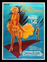 The Seven 7 Year Itch ✯ Cinemasterpieces 1970and039s Sexy Marilyn Monroe Movie Poster