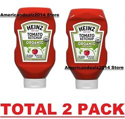 Heinz Organic Certified Tomato Ketchup, 32 Oz Bottle, Total 2 Pack