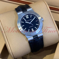 Bvlgari Diagono Automatic 36mm Black Dial - Stainless Steel On Strap Lc 35 S