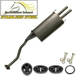 Stainless Steel Exhaust Muffler With Hangers And Bolts Fit 94-97 Accord 97-99 Cl