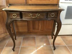 Sligh Lowry Queen Anne Table Dated And Signed. Drawers Desk