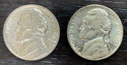 Usa - Set Of Two 5 Cents 1942 S San Francisco Mint