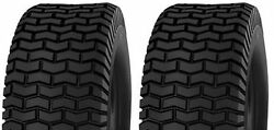 Two 16x6.50-8 16x650-8 16/6.50-8 16x6.50x8 4ply Rated Lawn Mower Turf Tires
