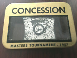 1957 Masters Golf Badgeconcessionextremely Rare Ticketdoug Ford Winsaugusta