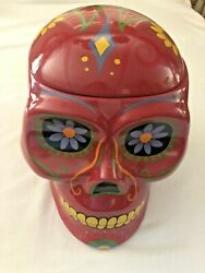 Cookie Jar Sugar Skull Day Of The Dead