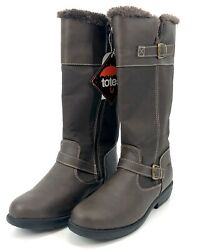 Womens Brown Totes Winter Boots Zipper Faux Fur Lined MSRP $89.99 Size 11 NEW $25.00