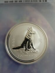 2006 2 Year Of The Dog Australia 2 Oz Silver Pcgs Ms69 Pop 5 None Higher