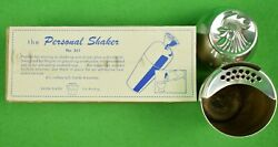 Napier Silver-plate Personal/single-serving C1950s Cocktail Shaker W/ Card And Box