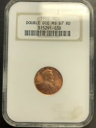 1995 1c Double Die Ms67 Red Ngc Lincoln Cent