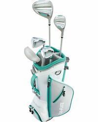 Top Flite Girls 8-piece Complete Golf Set W/bag Teal Right Hand Ages 5-8