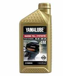 Yamalube Lub-05w30-fc-12 5w-30 Outboard Full Synthetic 4m Fc-w Engine Oil Qu...