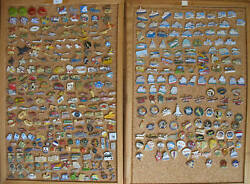 Collection Pins 1767 Piece Transport Ship Aircraft Helicopter Balloon Railway