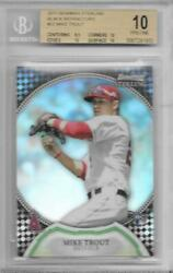 2011 Mike Trout Sterling Black Refractor RC- Graded BGS 10 Pristine... #2425
