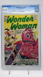 Wonder Woman 145 Cgc 8.0 Ow/w Pgs Dc 1964 Full Page Ad Hawkman 1 Ross Andru