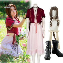 Game Ff Vii Ff7 Aerith Gainsborough Cosplay Costume Outfit Customize