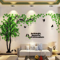 Tree Acrylic Decorative 3d Wall Sticker Diy Tv Background Wall Poster Large Size