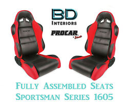 Racing Style Full Seats 80-1605-64 1050 Series Vinyl And Velour For 1990 91 Accord