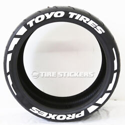 Toyo Tires Proxes Frost Tire Lettering - 1.00 19-21 Tire Stickers White