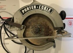 Vintage Porter Cable 617 Usa Made Circular Saw 7-1/4 Heavy Duty Builders
