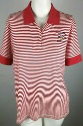 TOMMY HILFIGER Women's Golf Polo XL Extra Large Red Striped 2006 US Open NWT